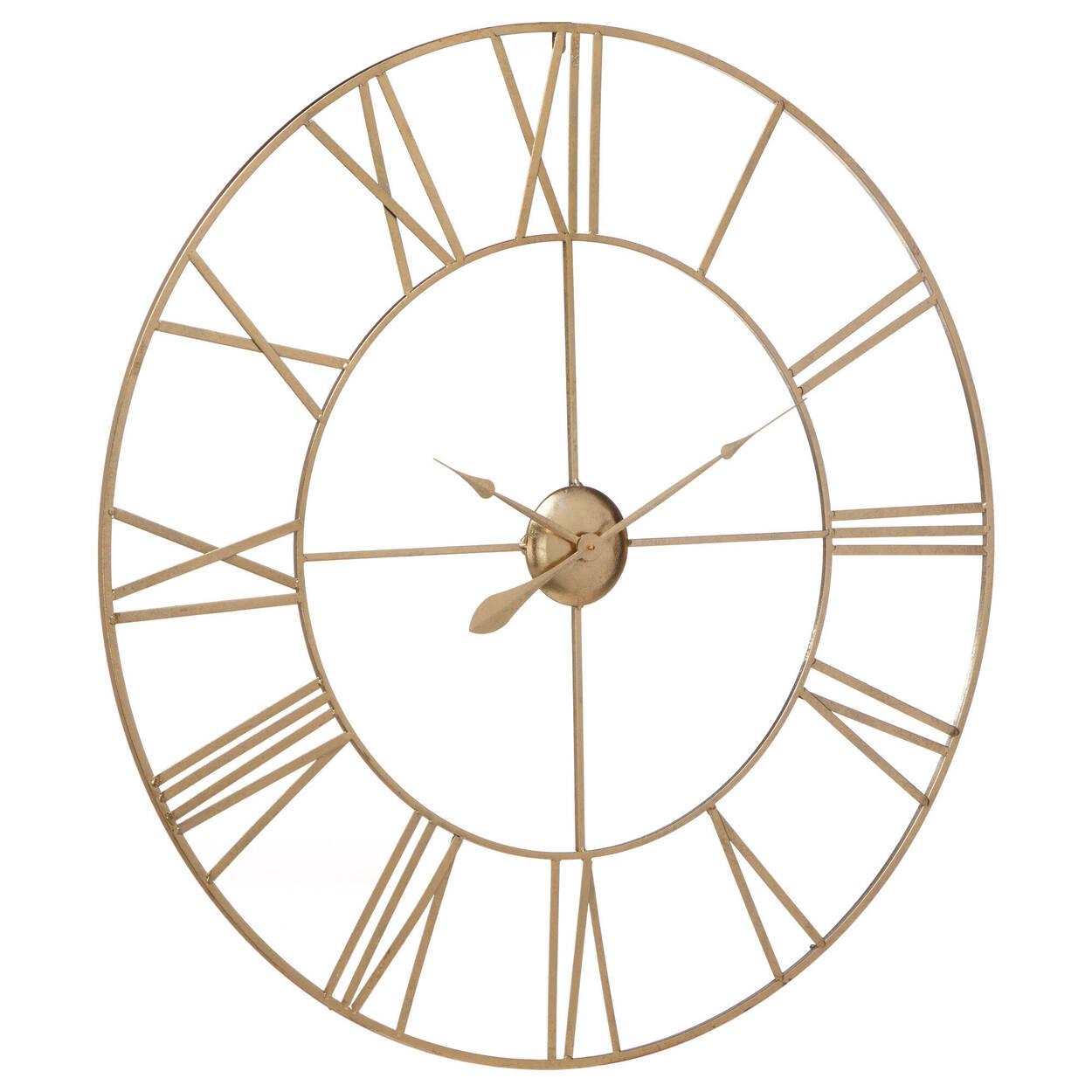 Horloge murale en métal