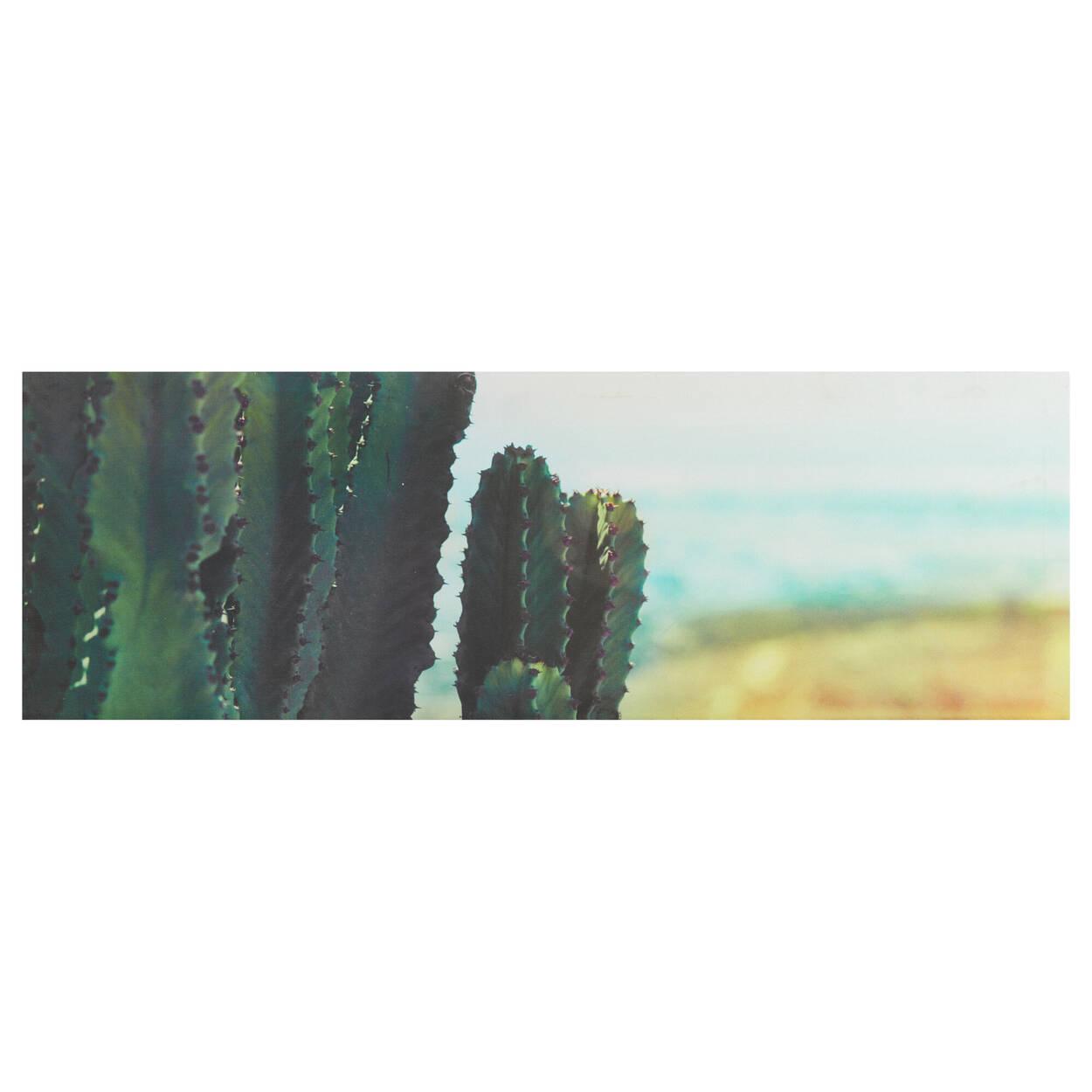 Cactus on The Beach Printed Canvas