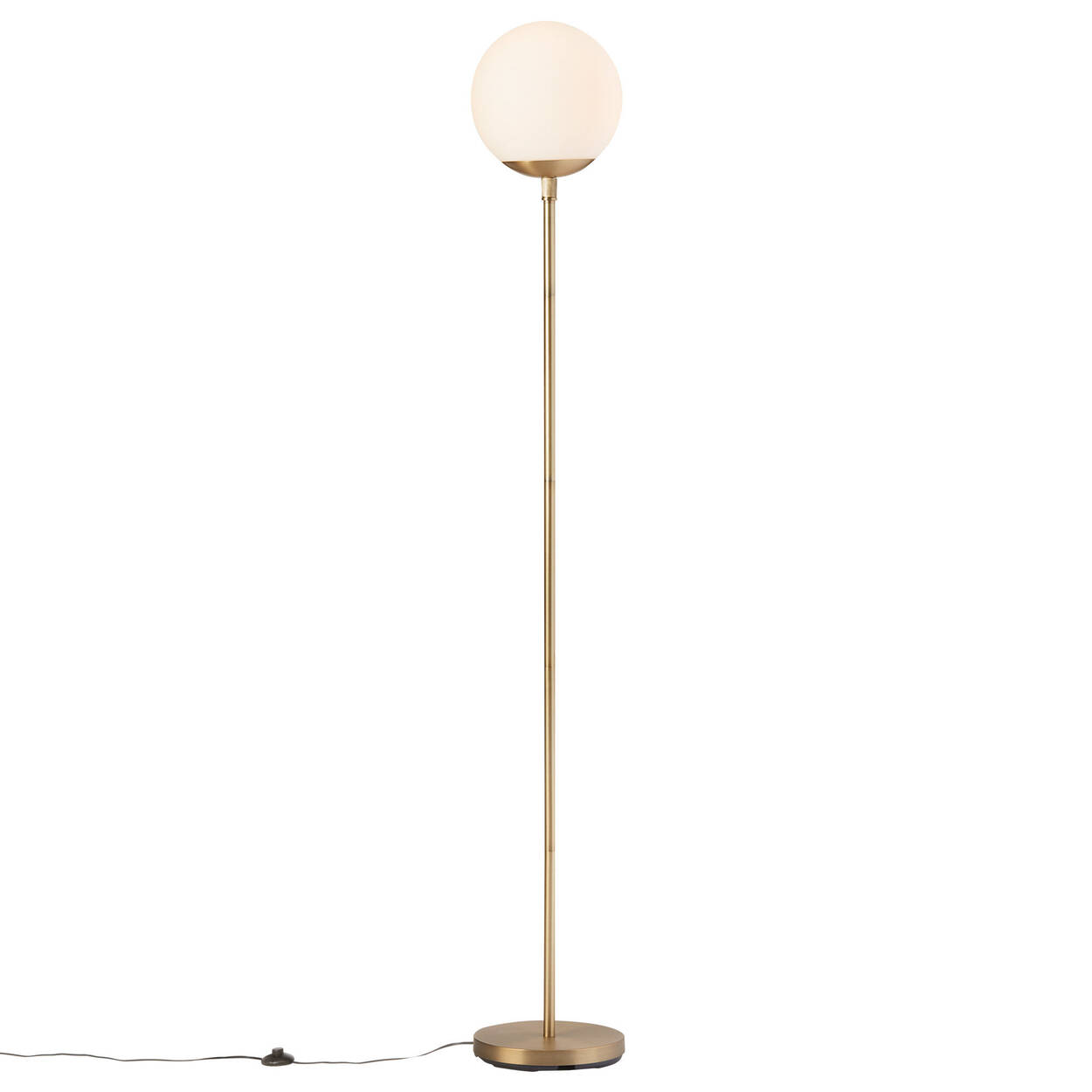 Metal and Glass Floor Lamp