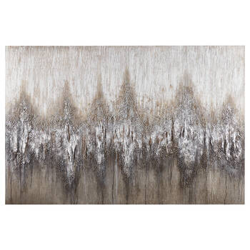Abstract Glitter Oil Painted Canvas