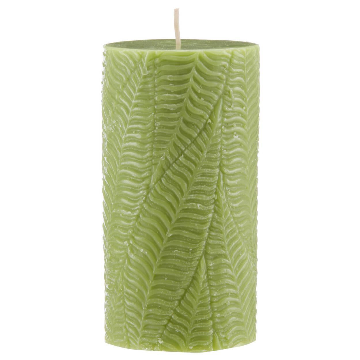 Leaf Pattern Pillar Candle