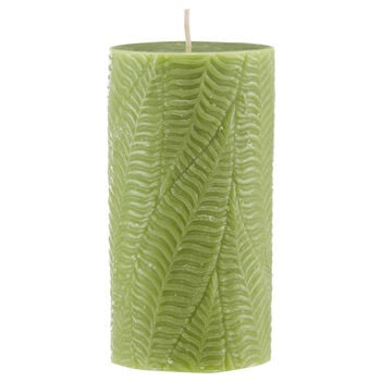 Leaf Pattern Pillar Candle