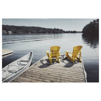 Yellow Adirondack Chairs Printed Canvas
