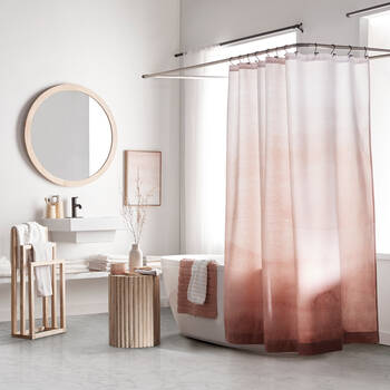 Blush Gradient Shower Curtain