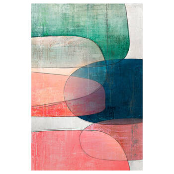 Gel-Embellished Abstract Printed Canvas