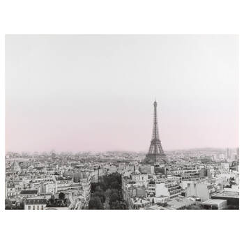 Sunset in Paris Printed Canvas