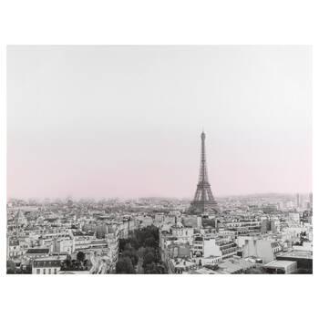 Tableau imprimé d'un coucher de soleil à Paris