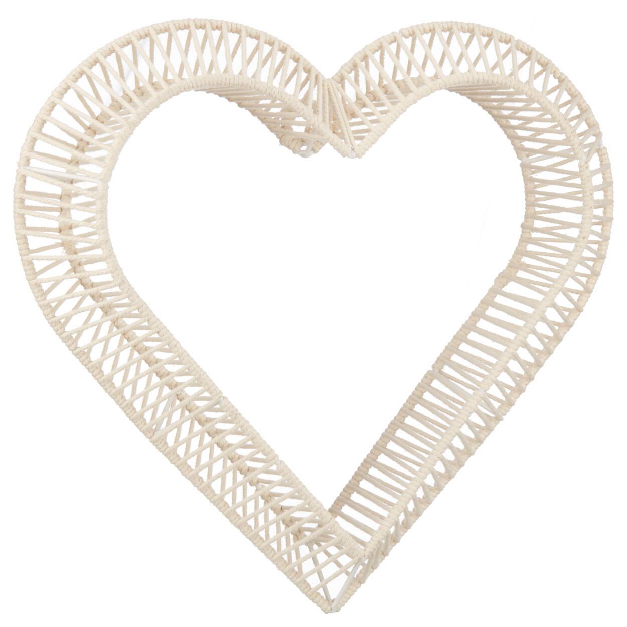 Coeur en macramé suspension murale