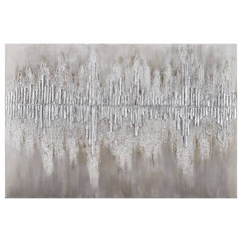 Abstract Wood Sticks Oil Painted Canvas