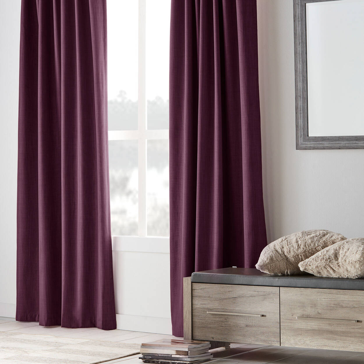 Vence Blackout Curtain with Hidden Back Tab