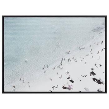 Beach Day Framed Printed Canvas
