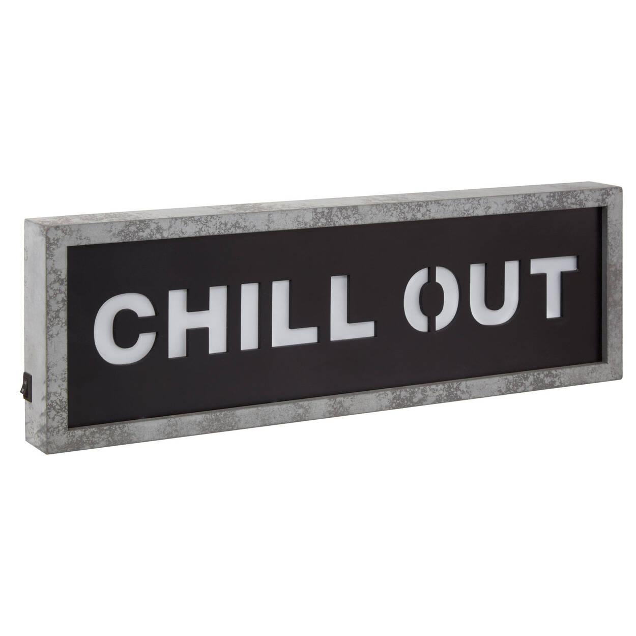 "Boîte illuminée ""Chill Out"""