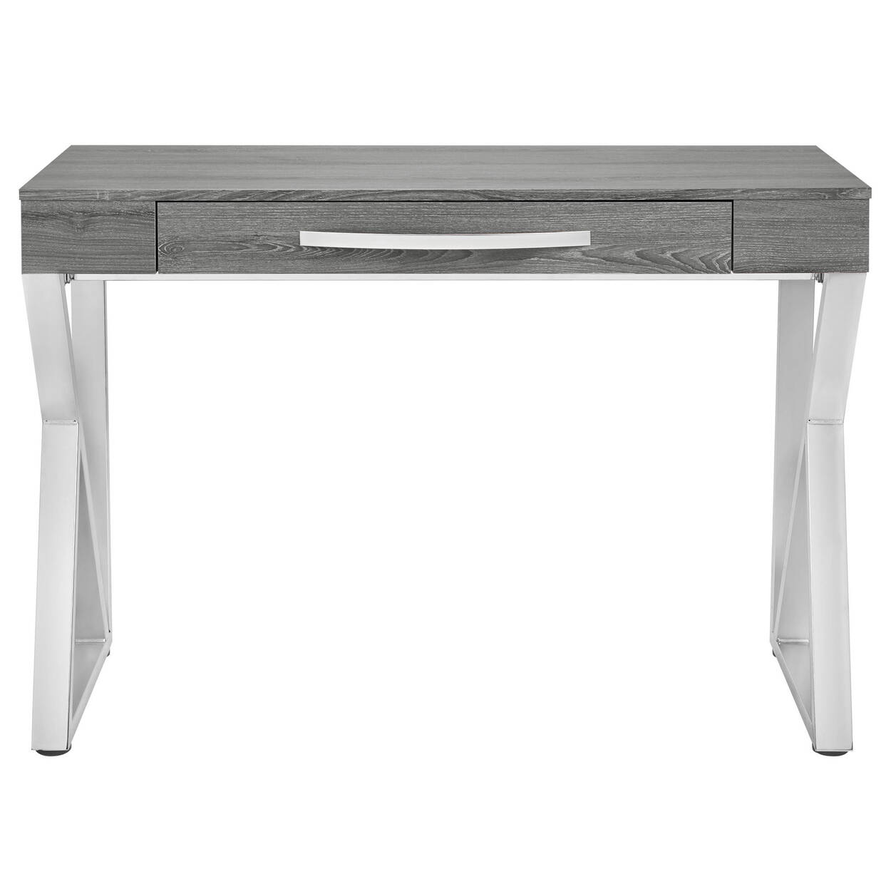 Veneer and Chrome Desk