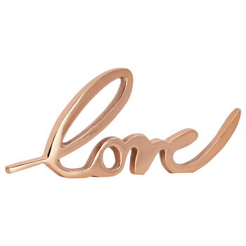 Decorative Metallic Word Love