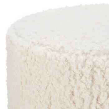 Pouf en fausse laine
