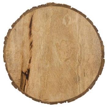 Assiette de service en bois de manguier