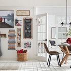 Wooden Shelf with Metal Hooks