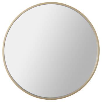 Round Gold Framed Mirror