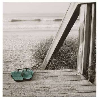 Beach and Flip Flops Canvas II