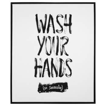 Cadre typographie Wash Your Hands