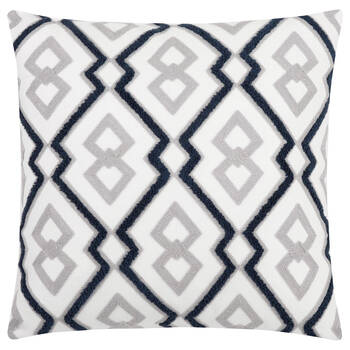 """Zadie Embroidered Decorative Pillow 17"""" X 17"""""""