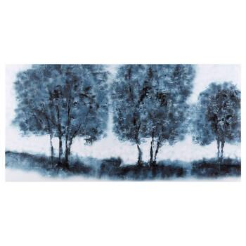 Gel-Embellished Trees Printed Canvas