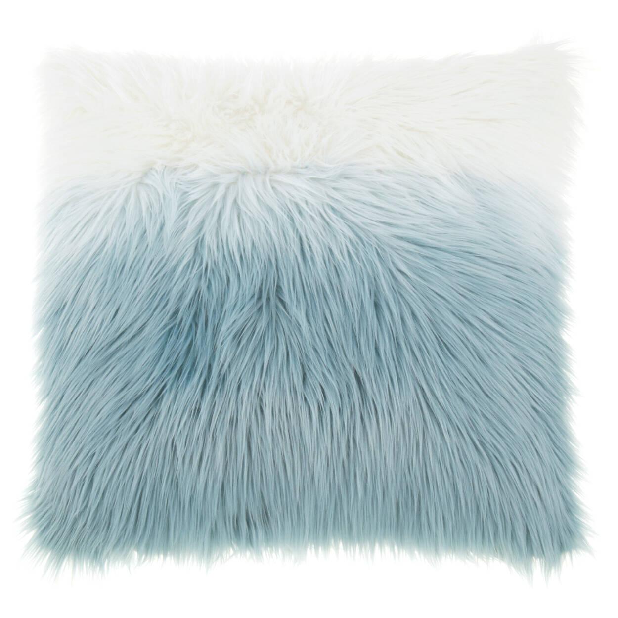 """Ceti Ombré Faux Fur Decorative Pillow 17"""" x 17"""""""