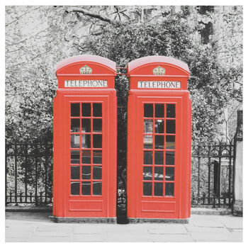 London Phone Booth Printed Canvas
