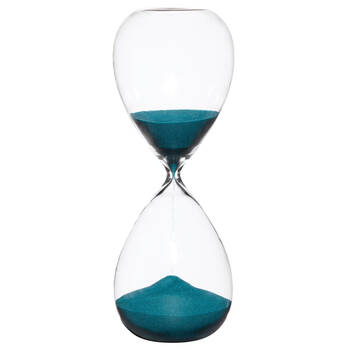Decorative Hourglass with Blue Sand