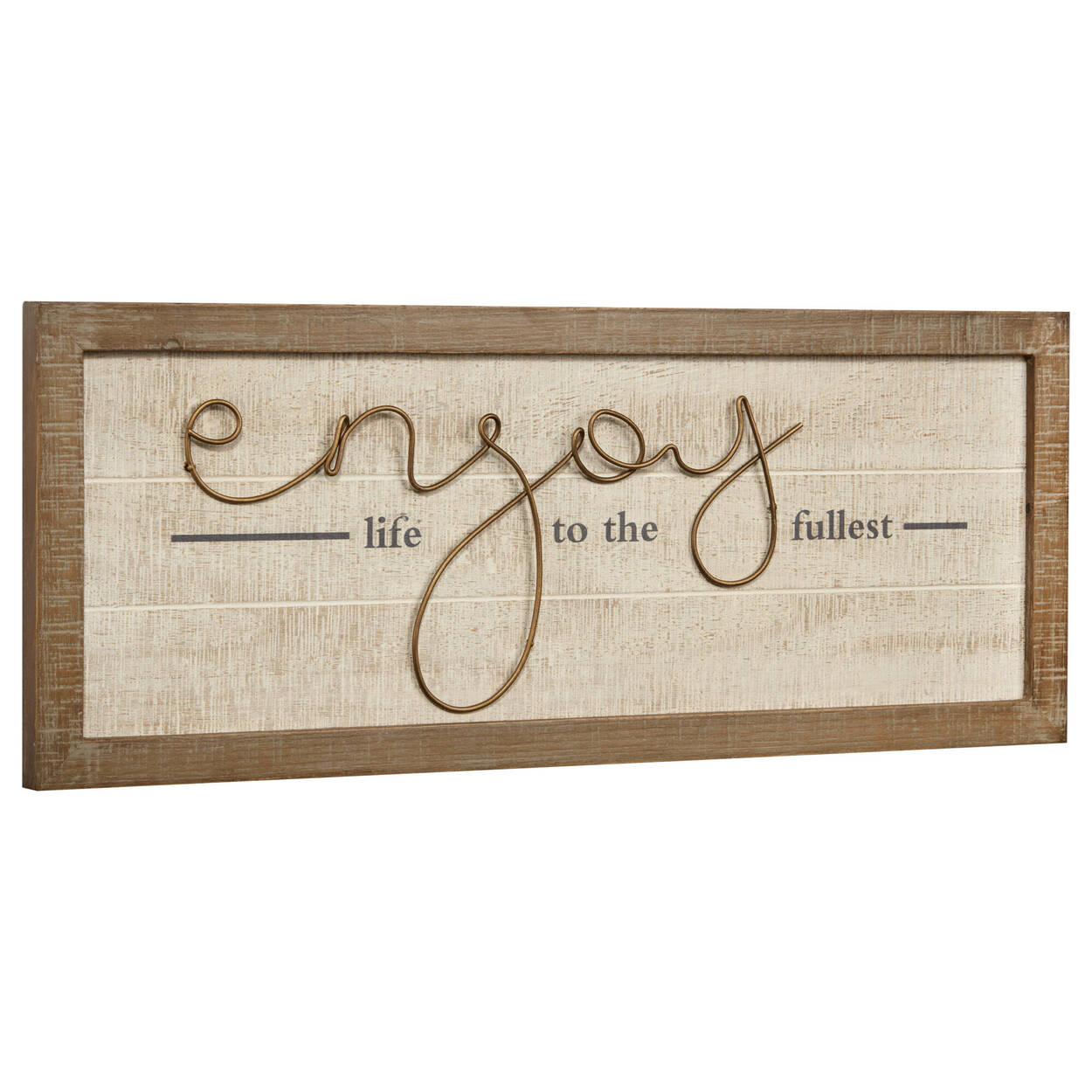 Enjoy Metal and Wood Wall Art