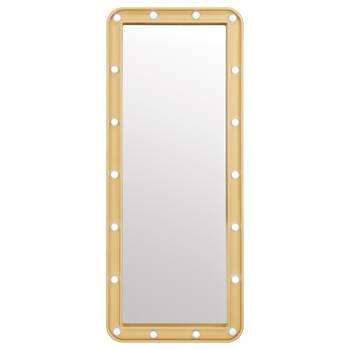 Miroir doré avec ampoules