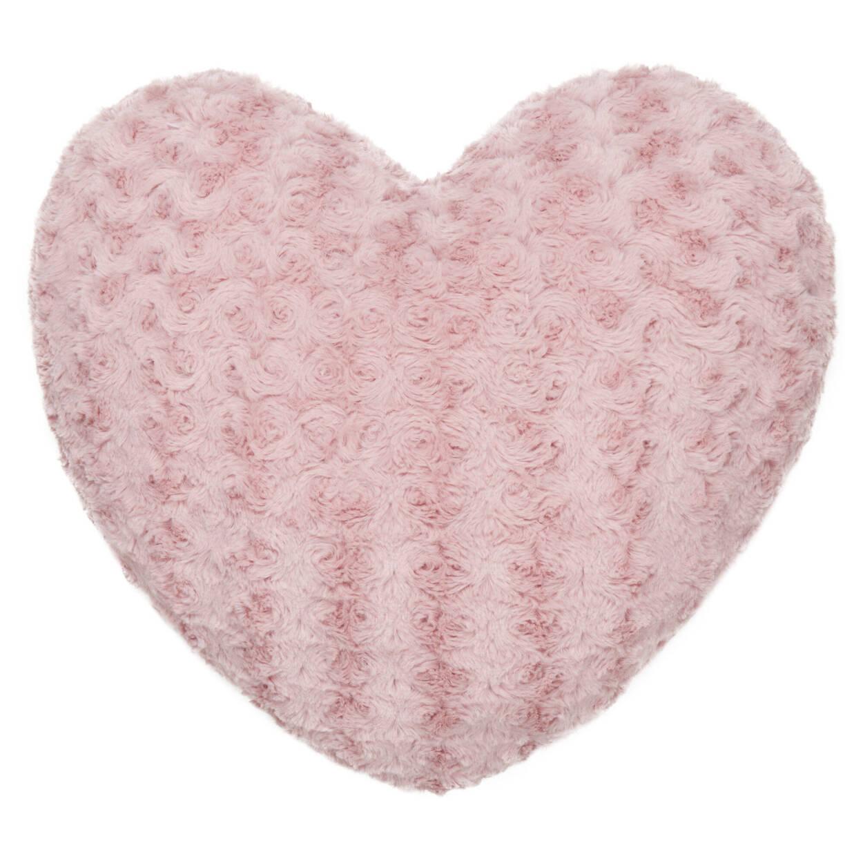 """Coussin décoratif en coeur Rose 18"""" X 18"""""""