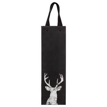 Chalkboard Deer Wine Bag