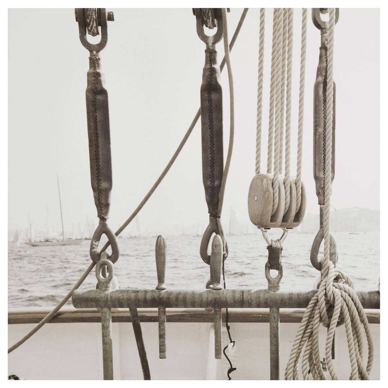 Pulleys on Boat Printed Canvas