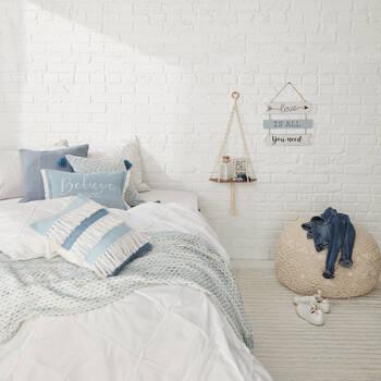 "Fringe Decorative Pillow 18"" x 18"""