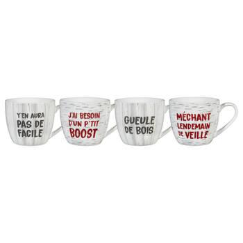 Set of 4 Quebec Expressions Mugs