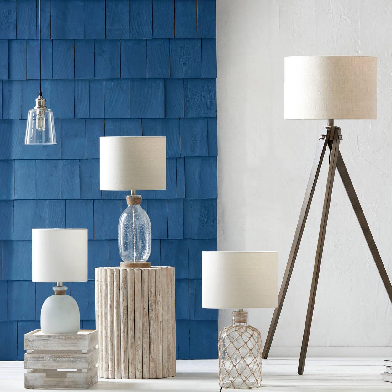 Metal & Glass Ceiling Lamp
