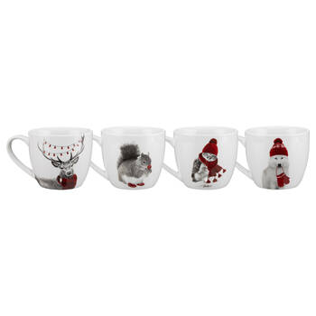 Set of 4 Ceramic Mugs