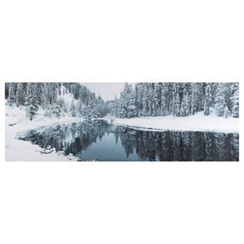 Winter Lake Printed Canvas
