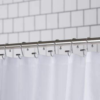 Set of 12 Chrome Shower Curtain Hooks