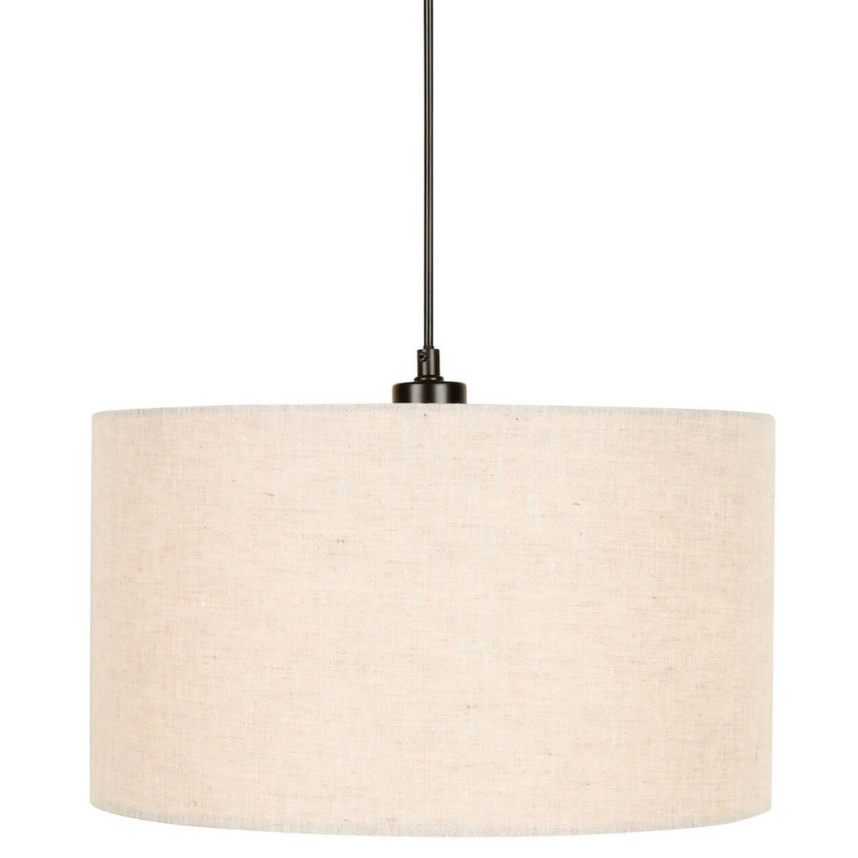 Round Linen Ceiling Lamp Bouclair