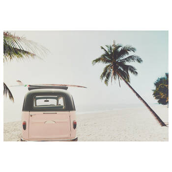 Winnebago in on the Beach Printed Canvas