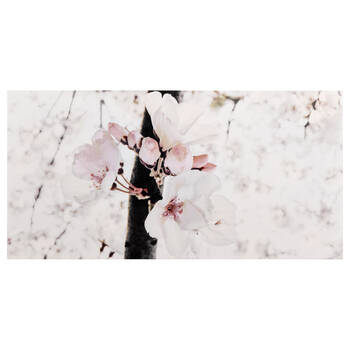 Cherry Tree Blossoms Printed Canvas