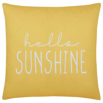 "Hello Sunshine Water-Repellent Decorative Pillow 18"" X 18"""