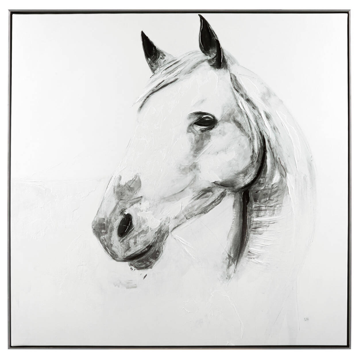 Horse Printed Framed Art with Gel Embellishment | Bouclair.com
