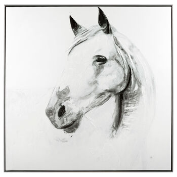 Horse Printed Framed Art with Gel Embellishment