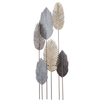 6 Metal Leaves Wall Art