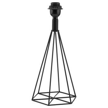 Pied de lampe prisme en tige de métal