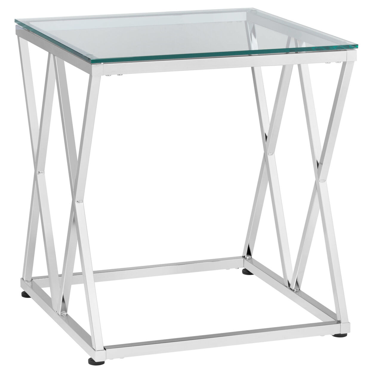 glass side table. Tempered Glass Side Table With Metal Legs D