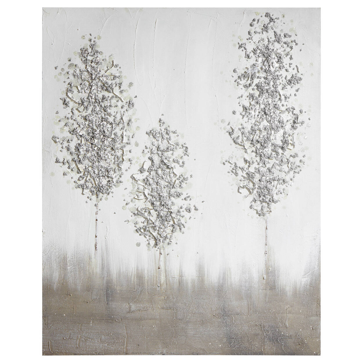 Trees Mixed Media Oil Painted Canvas